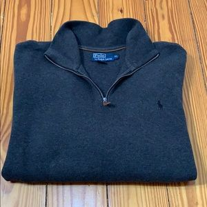 Polo by Ralph Lauren Gray Quarter Zip Sweater